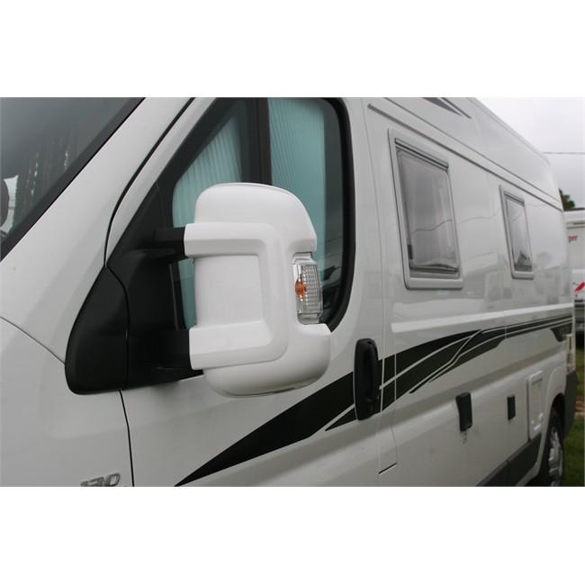 2 coques de protection blanches pour r troviseurs bras courts milenco. Black Bedroom Furniture Sets. Home Design Ideas