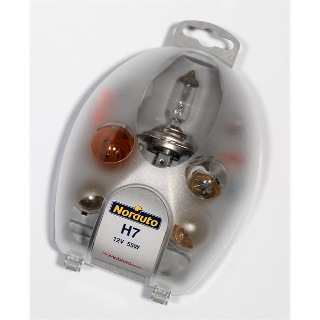 coffret ampoules h7 norauto 7 ampoules. Black Bedroom Furniture Sets. Home Design Ideas