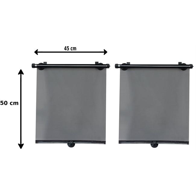 2 rideaux pare-soleil enrouleurs latéraux NORAUTO 50 x 45 cm ...