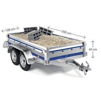 remorque 2 essieux 750 kg norauto premium 256. Black Bedroom Furniture Sets. Home Design Ideas