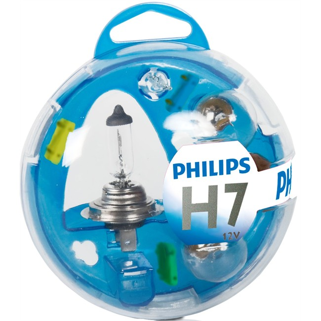 coffret ampoules h7 philips 5 ampoules. Black Bedroom Furniture Sets. Home Design Ideas
