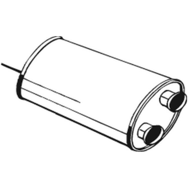 Silencieux Intermédiaire Bosal 135-531