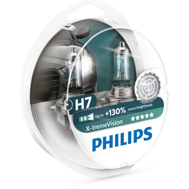 2 Ampoules Philips H7 X-tremevision 60/55 W 12 V