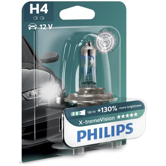 1 ampoule philips h4 x tremevision 55w 12v. Black Bedroom Furniture Sets. Home Design Ideas