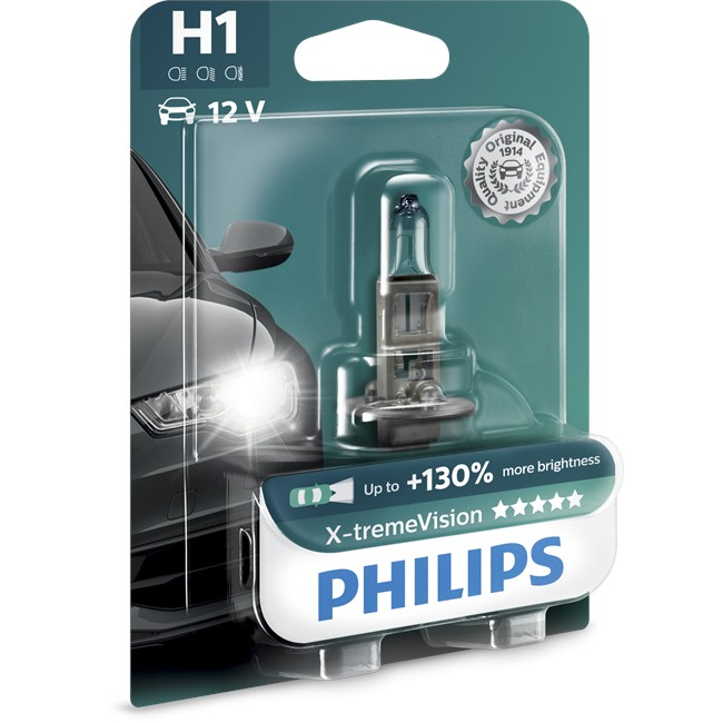 1 ampoule philips h1 x tremevision 55 w 12 v. Black Bedroom Furniture Sets. Home Design Ideas