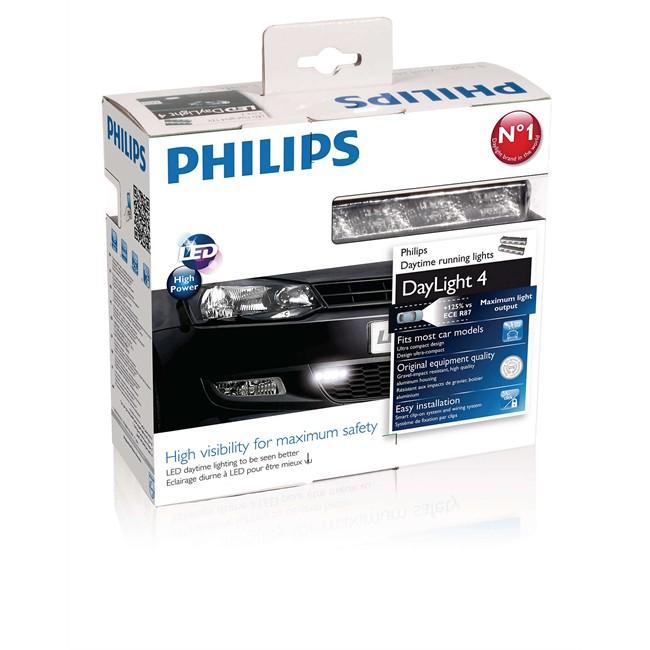 feux de jour 4 leds philips daylight 4 12 v. Black Bedroom Furniture Sets. Home Design Ideas