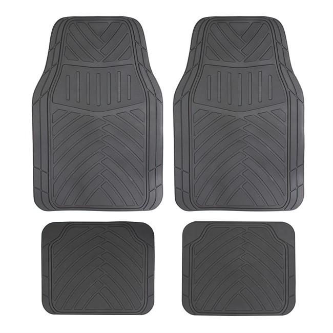 4 tapis de voiture universels en pvc optima noir. Black Bedroom Furniture Sets. Home Design Ideas