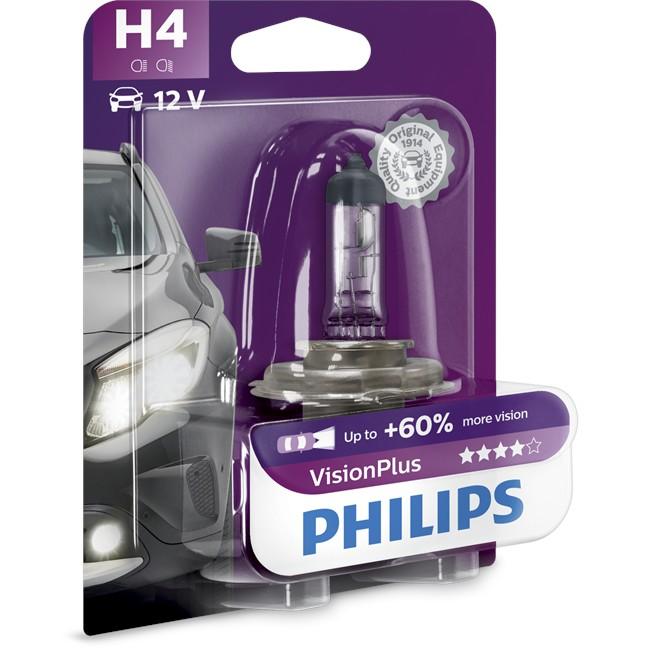 1 Ampoule Philips H4 Visionplus 55 W 12 V