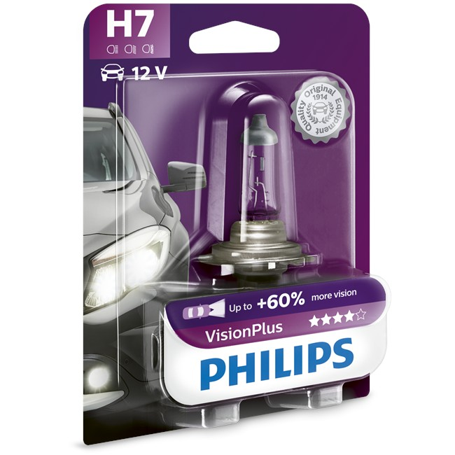 1 ampoule philips h7 visionplus 55 w 12 v. Black Bedroom Furniture Sets. Home Design Ideas