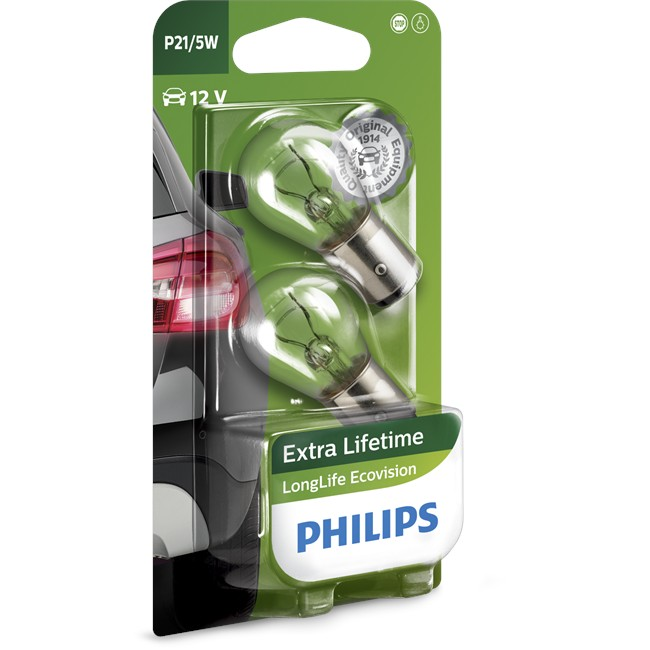 2 Ampoules Philips P21/5w Longlife Ecovision 21w/5w 12 V