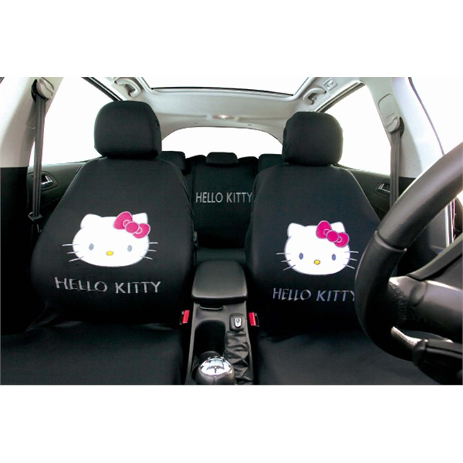 Jeu complet de housses universelles voiture hello kitty for Housse de voiture hello kitty
