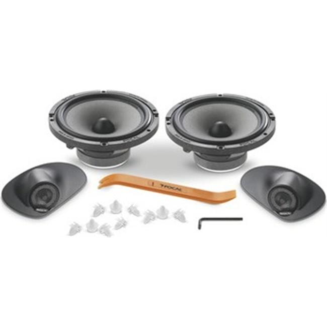 kit haut parleurs 2 voies s par es focal pour peugeot 207. Black Bedroom Furniture Sets. Home Design Ideas