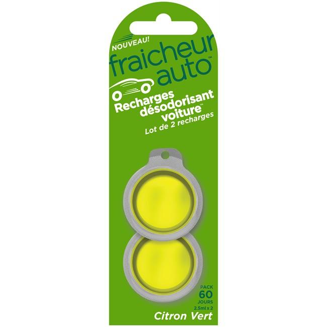 lot de 2 recharges d sodorisant voiture think fra cheur auto citron vert. Black Bedroom Furniture Sets. Home Design Ideas