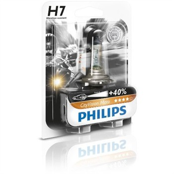 1 ampoule 2 roues Philips H7 City Vision