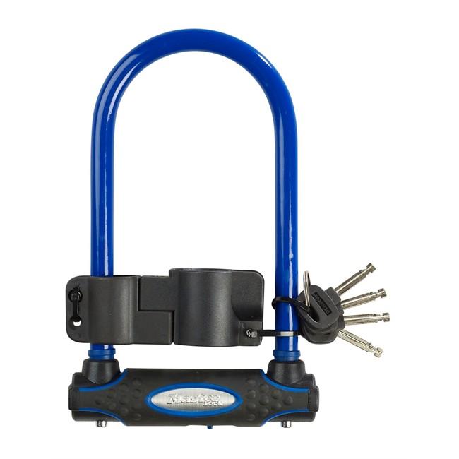 Antivol U Masterlock Bleu 11 X 21 Cm Pour Vélo