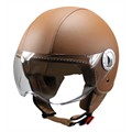 Casque jet Ride 701 cuir marron XL