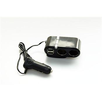 double prise allume cigare avec 2 ports usb 12v 24v 2 a norauto sound. Black Bedroom Furniture Sets. Home Design Ideas