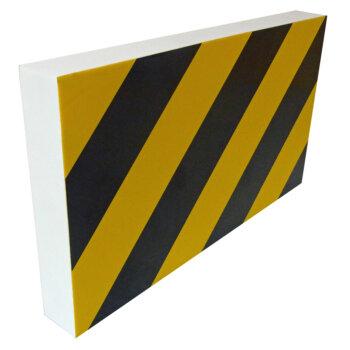 1 mousse de protection droite noire et jaune pour voiture 35 cm viso pu3540nj. Black Bedroom Furniture Sets. Home Design Ideas