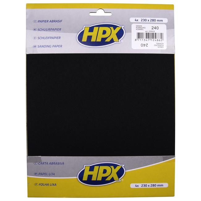 4 Feuilles De Papier Abrasif À L'eau Hpx P240