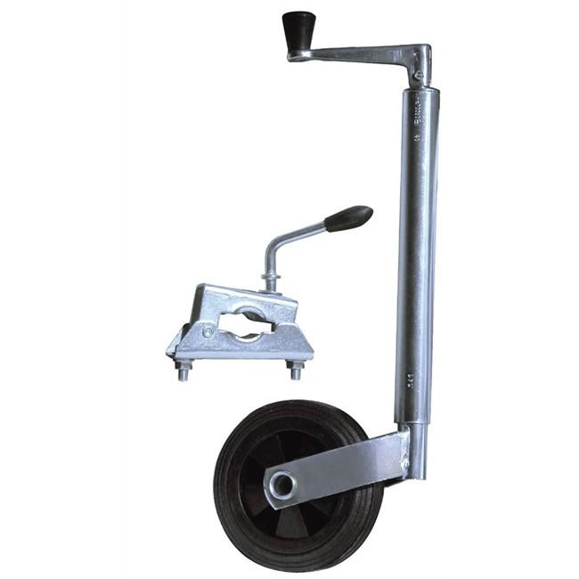 roue jockey 34 mm avec bride dbd trigano pour remorque norauto pm1. Black Bedroom Furniture Sets. Home Design Ideas