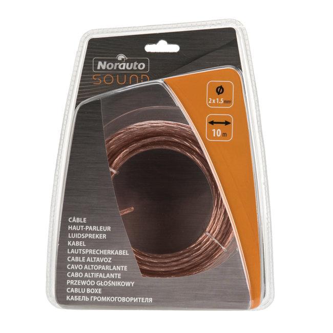 Câble Haut-parleur Torsadé 2x1.5 Mm² 10 M Transparent
