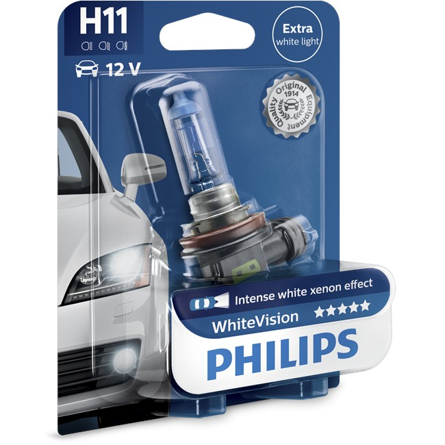 W 55 H11 Ampoule 12 Philips Whitevision 1 V gYb76fy
