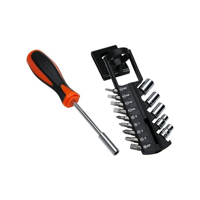 Outillage › Mallettes outils Kit tournevis + embouts et 5 douilles 6 pans 5 10 mm