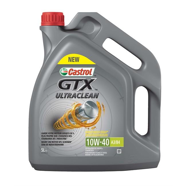 Huiles Liquides Huile Moteur Huile Moteur Castrol Gtx Ultraclean 10w40 A3 B4 Essence Et Diesel 5 L