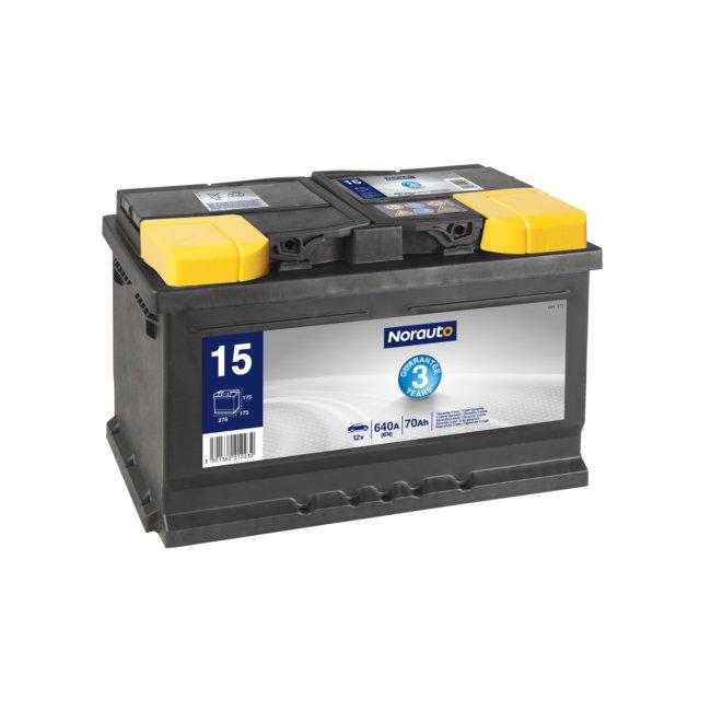 Batterie NORAUTO BV15 70 Ah 640 A :