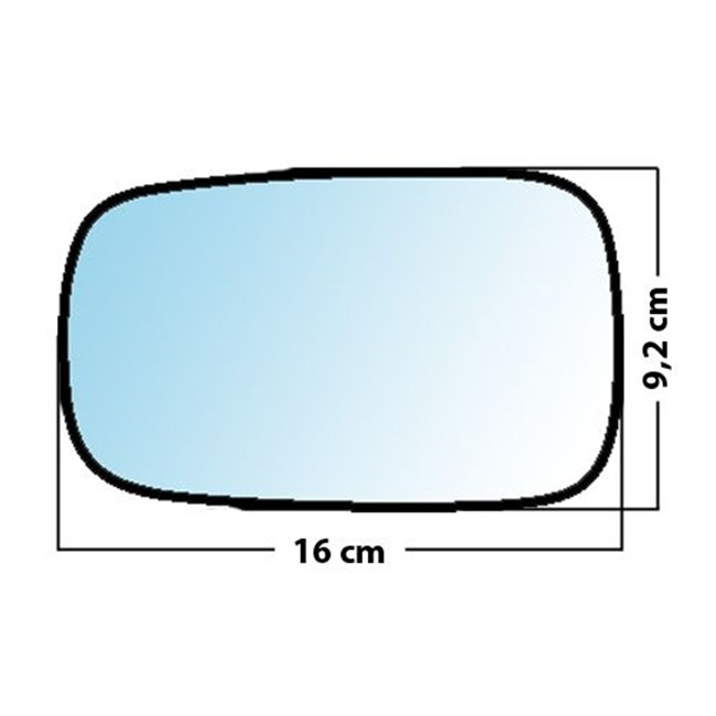 Droit Côté Passager Miroir De Verre Rétroviseur Extérieur Pour Hyundai Getz 2002-2011