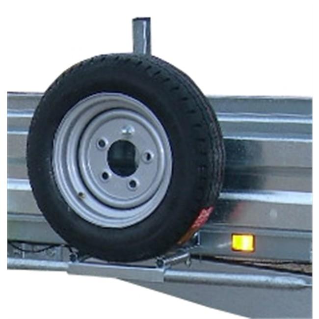 support de roue de secours dbd pour remorque plateau moto