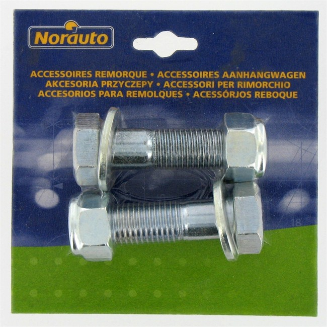 Kit de 2 vis NORAUTO pour remorque 16 x 60 mm : Norauto.fr