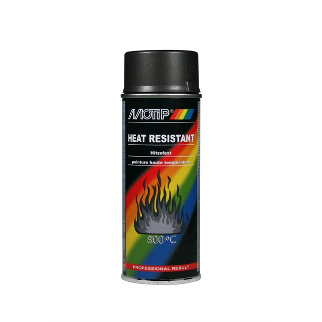 Bombe De Peinture Gris Anthracite Haute Température MOTIP M04030 400 Ml