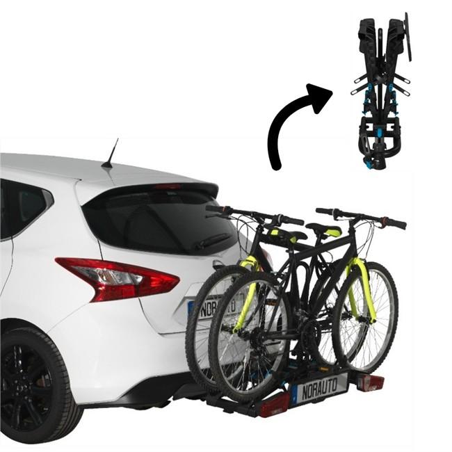 761cd977404be Porte-vélos d´attelage plate-forme NORAUTO Rapidbike 2P Flex pour 2 vélos