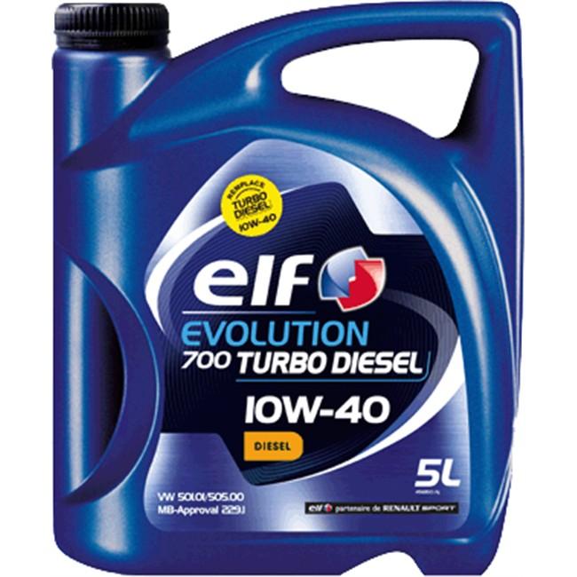 huile moteur elf evolution 700 turbo 10w40 diesel 5 l. Black Bedroom Furniture Sets. Home Design Ideas