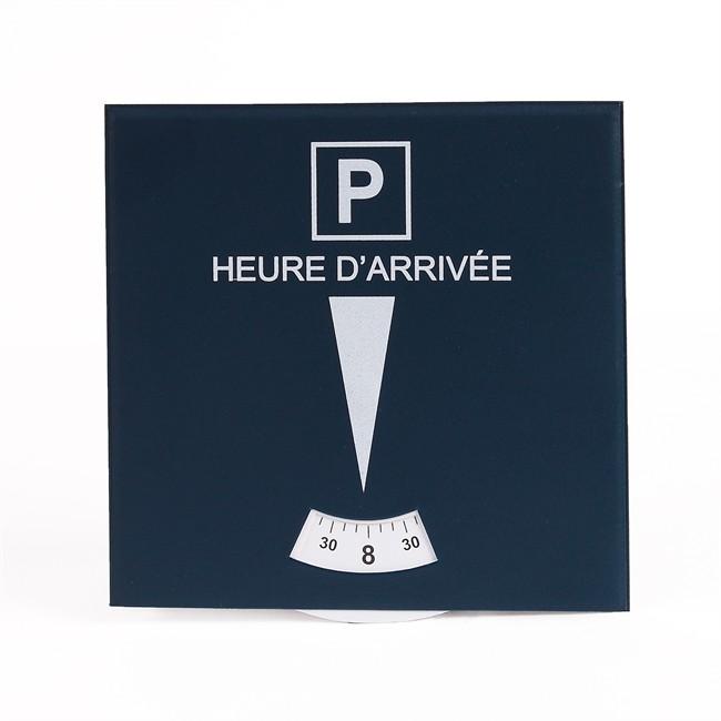 1 disque de stationnement zone bleue 15 8 x 15 8 cm en pvc poser