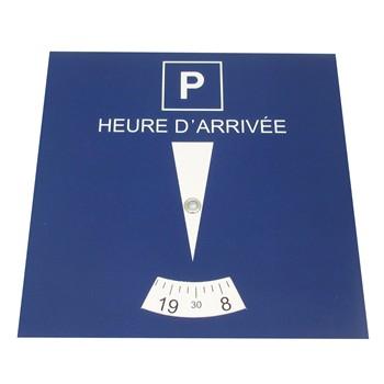 1 disque de stationnement zone bleue 15 x 15 cm en carton poser. Black Bedroom Furniture Sets. Home Design Ideas