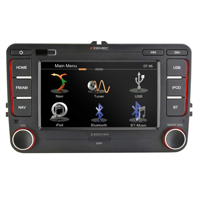 autoradio gps zenec z e2014m pour volkswagen seat skoda. Black Bedroom Furniture Sets. Home Design Ideas