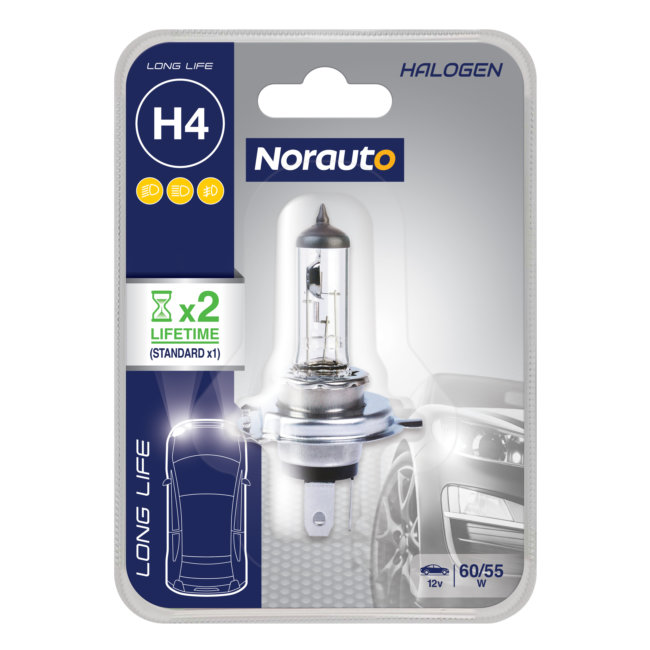 1 Ampoule H4 Norauto Longlife