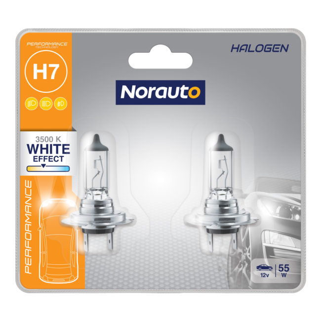 2 Ampoules H7 Norauto Performance White Effect