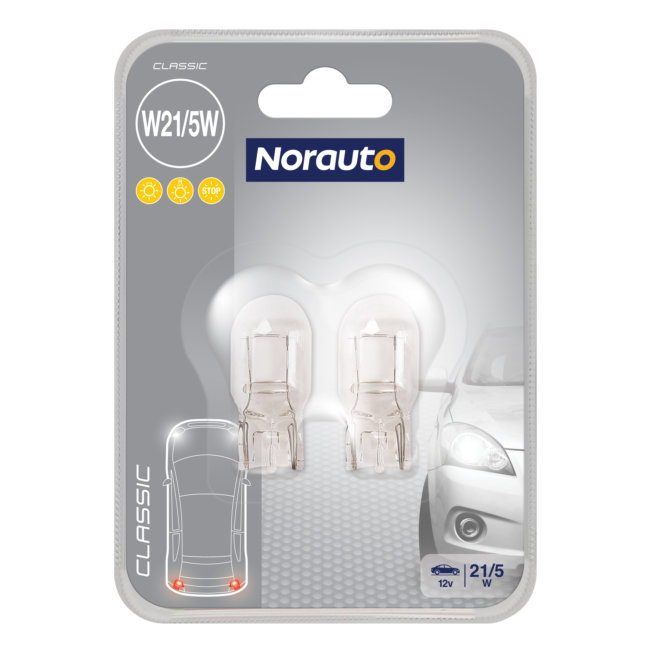 2 Ampoules W21/5w Norauto Classic