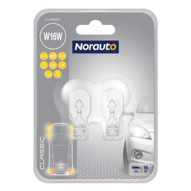 2 Ampoules W16w Norauto Classic