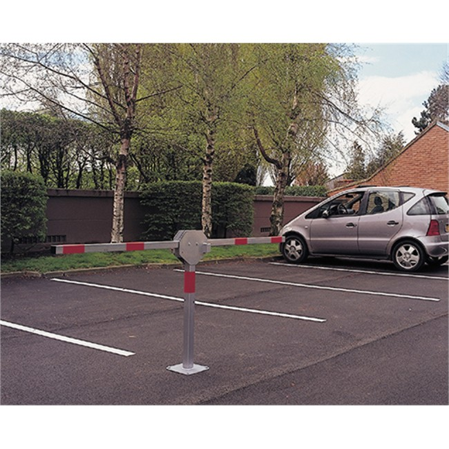 barri re de parking double bras en acier 5 cm mottez b303c. Black Bedroom Furniture Sets. Home Design Ideas