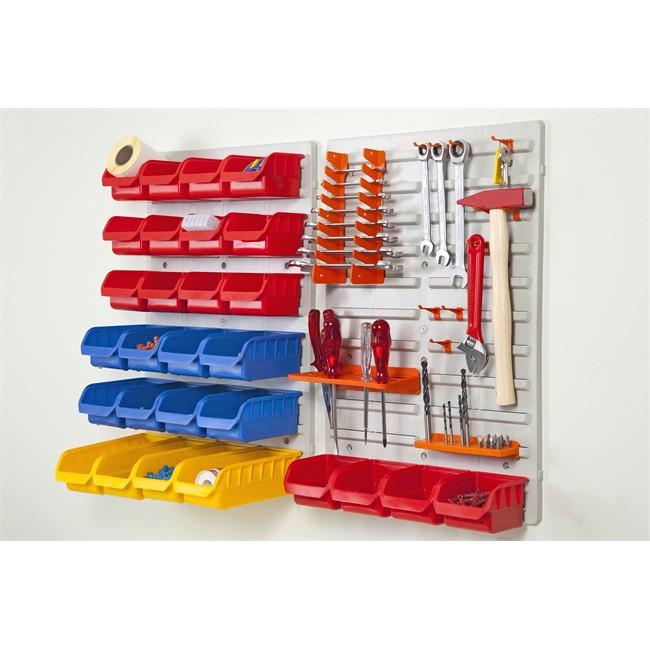 Kit 2 Panneaux + 24 Bacs + Supports Outils 840 X 590 Mm Dp01