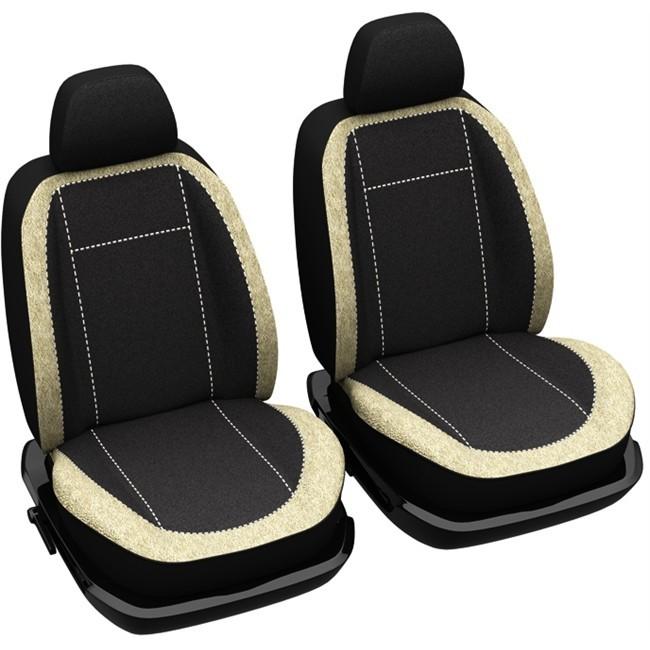 jeu complet de housses universelles voiture sp cial berline norauto madrid noires et beiges. Black Bedroom Furniture Sets. Home Design Ideas