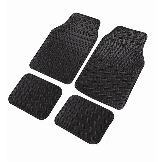 4 tapis de voiture universels en pvc cancun look carbone. Black Bedroom Furniture Sets. Home Design Ideas