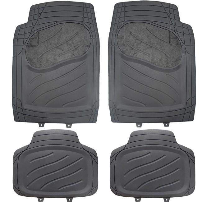 4 tapis de voiture universels en pvc et moquette norauto for Moquette interieur voiture