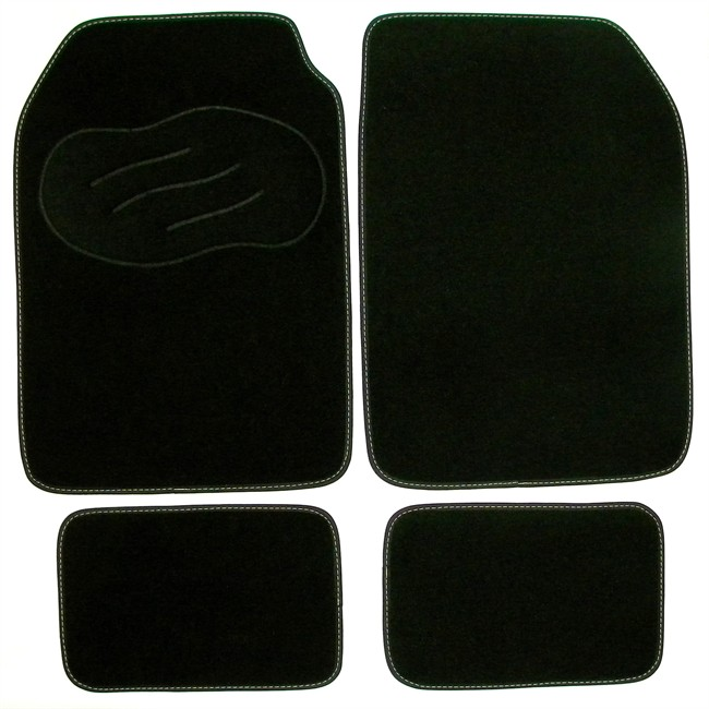 4 tapis de voiture universels moquette norauto noirs. Black Bedroom Furniture Sets. Home Design Ideas