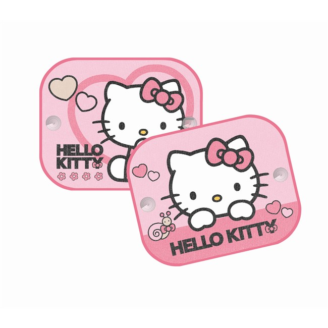 2 rideaux pare soleil ventouses lat raux hello kitty 44 - Rideaux hello kitty pas cher ...