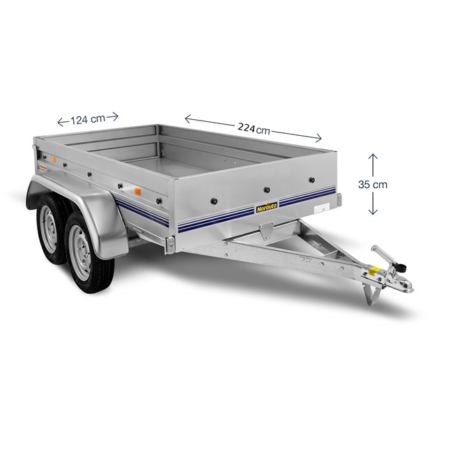 remorque 2 essieux 500 kg norauto nor 2300. Black Bedroom Furniture Sets. Home Design Ideas